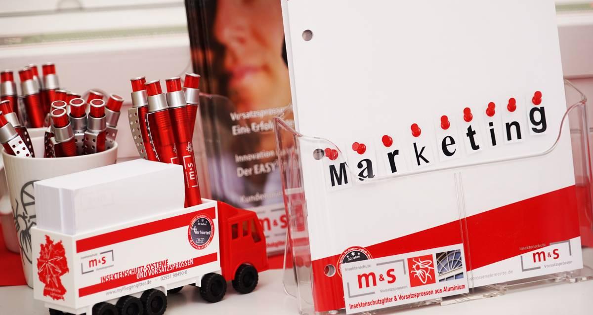 Marketingmaterial und Werbemittel