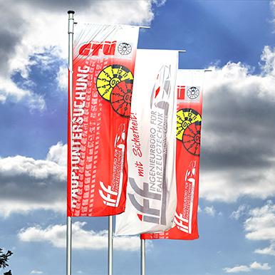 Fahnen - effektive Werbung die nicht im Winde verweht