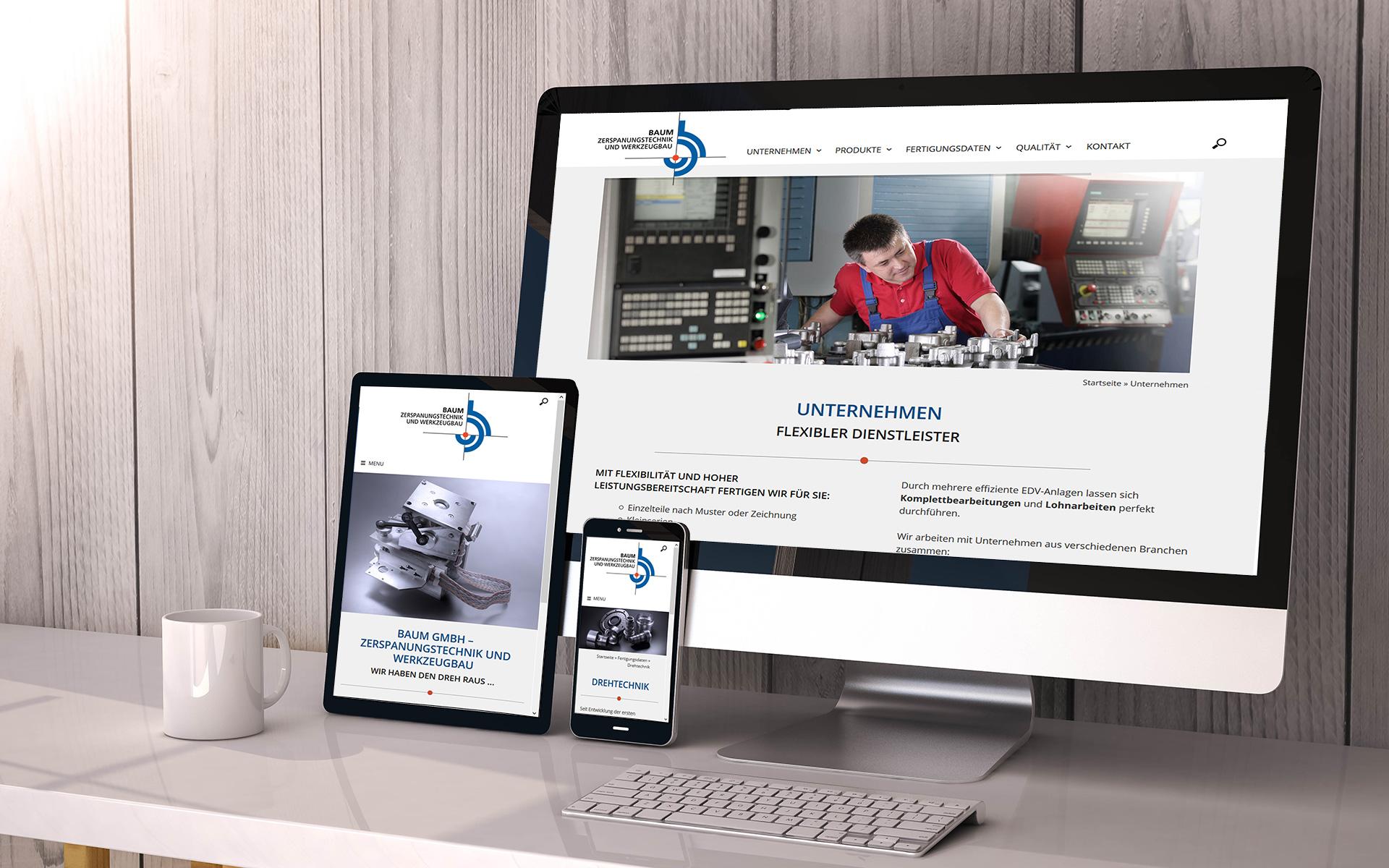 Webseiten Relaunch für ProjectPartner Kunde Baum GmbH Büren