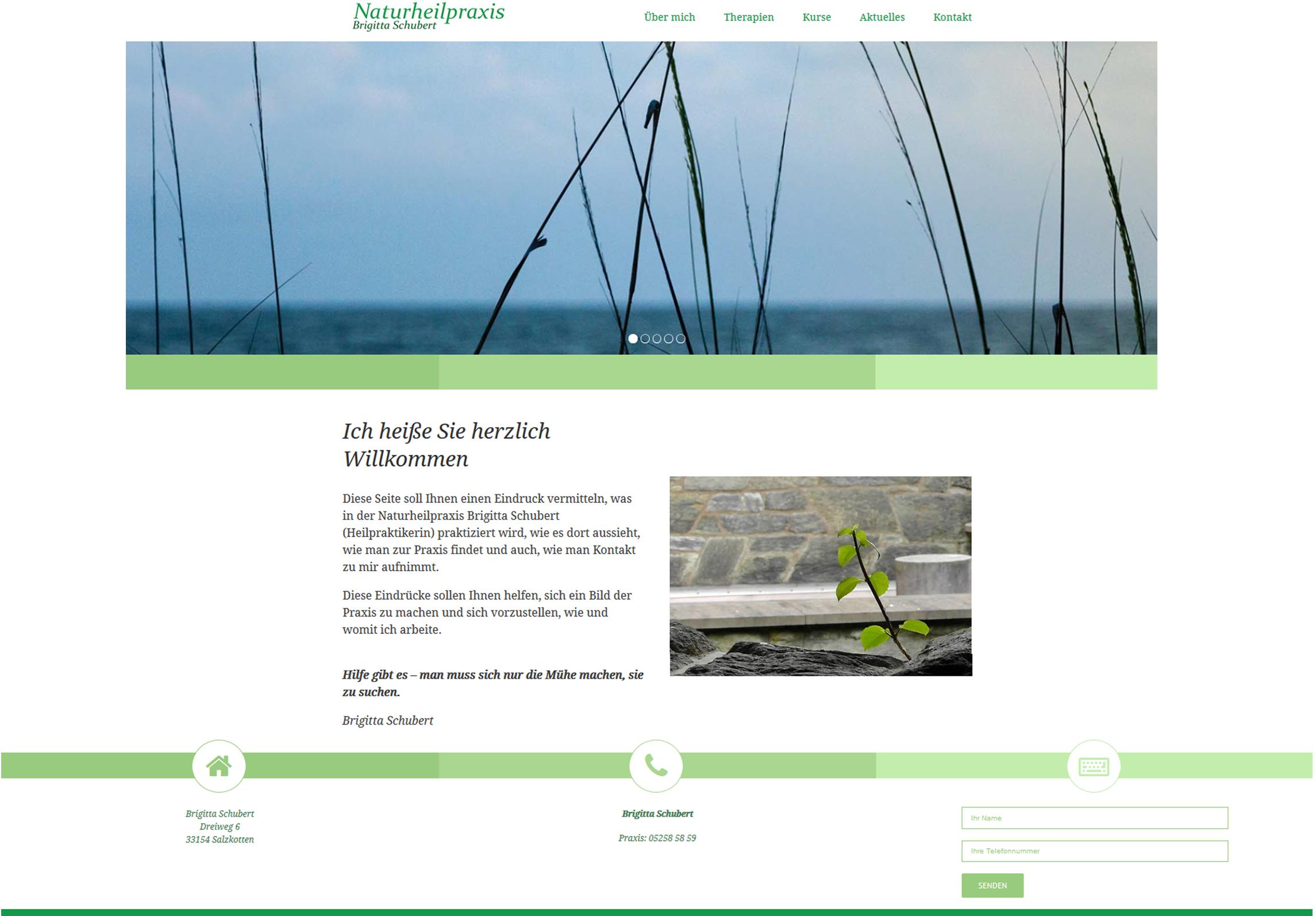 Foto von Webseite, die PP erstellt hat