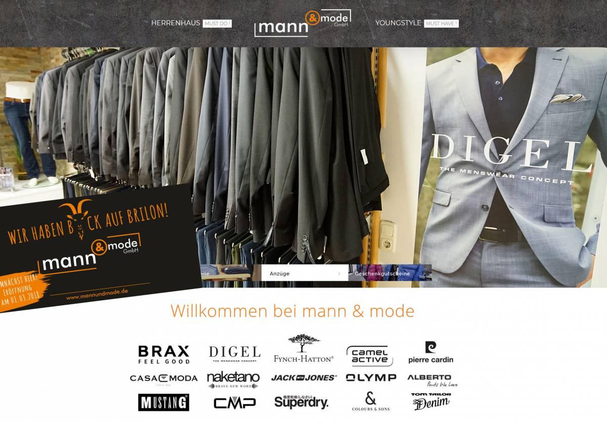 Bild von Webseite mann und mode