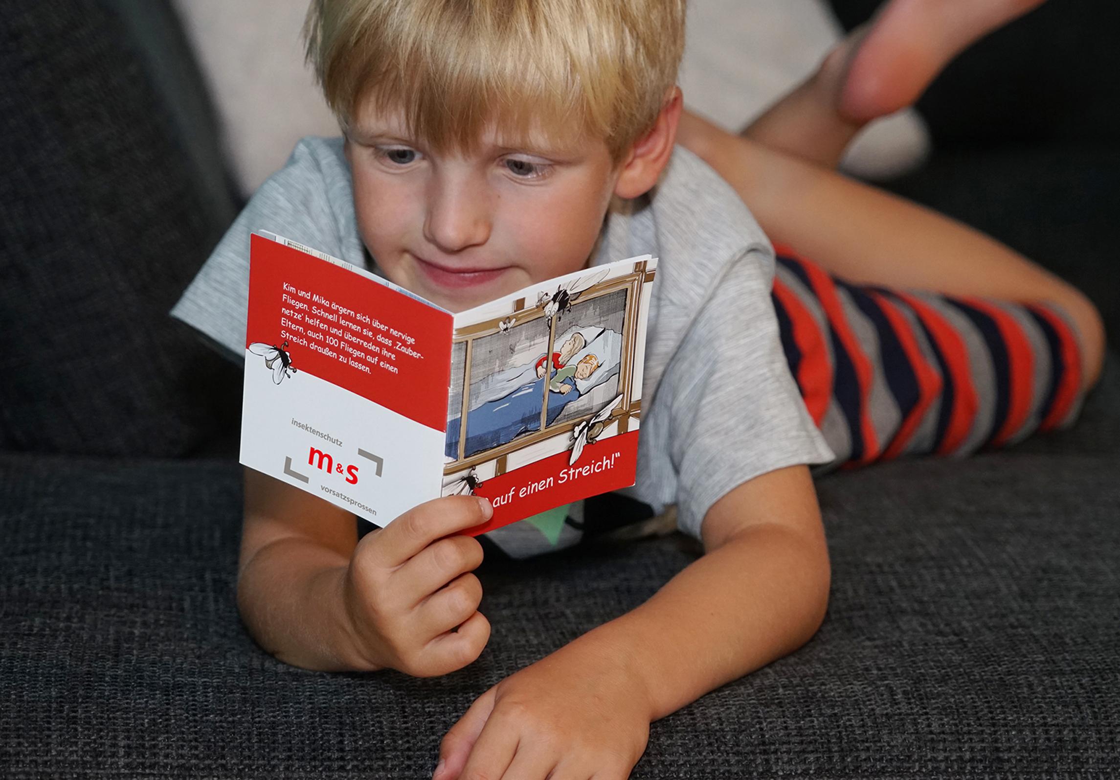 Kinderbuch von ProjectPartner-Kunde m&s Insektenschutz und Sprossenelemente