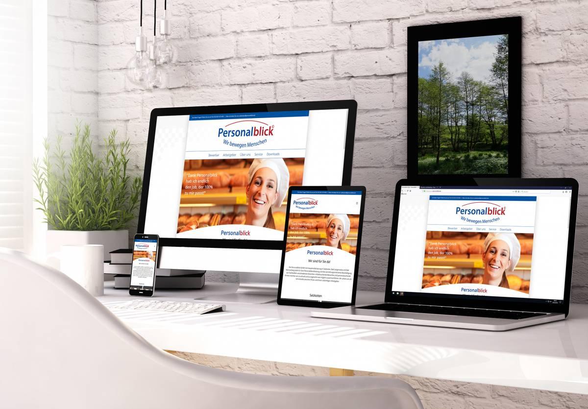 Relaunch der Website von Personalblick