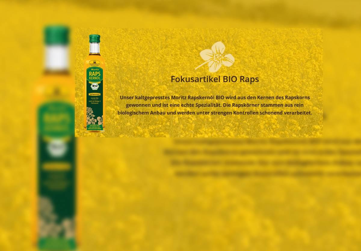 Neue Webseite für Moritz Speiseöle geht live