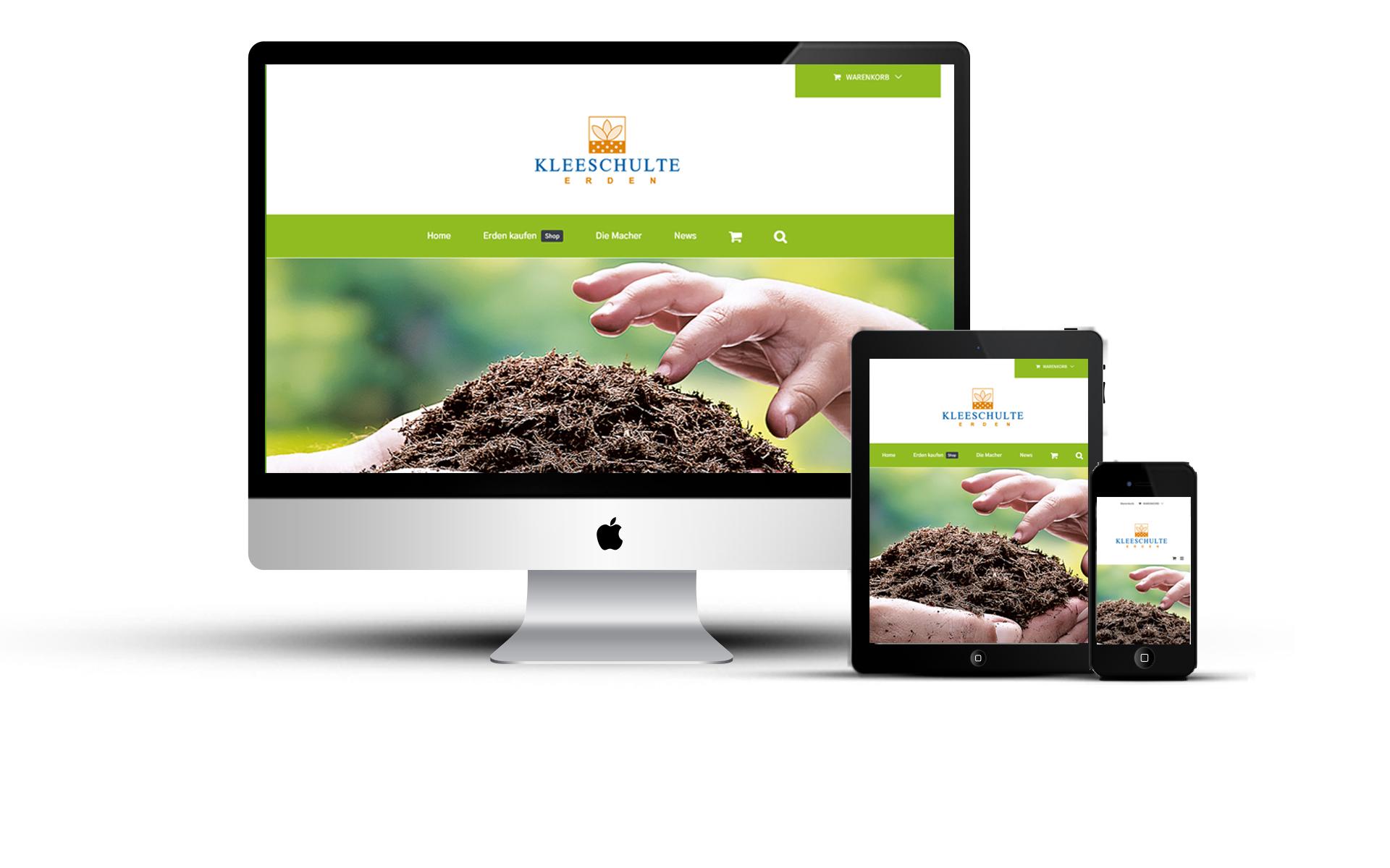 Onlineshop und Webseite für Erdenwerk