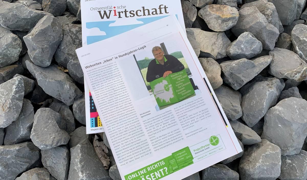 Dirk Kleeschulte in IHK Zeitung webseite online